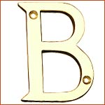 Brass Letters 'B' (H-1396)